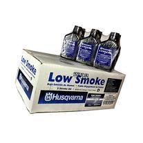 Case Of 24 Husqvarna Low Smoke 2 Cycle Oil 6.4 oz Bottles 50