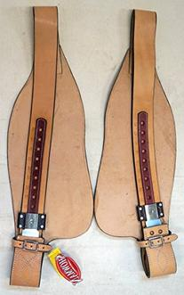Showman Smooth Leather Replacement Fenders Pair