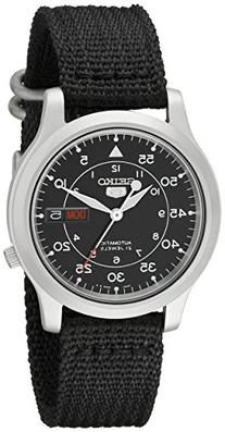 Men's SNK809  5 Automatic Stainless Steel Watch with Black