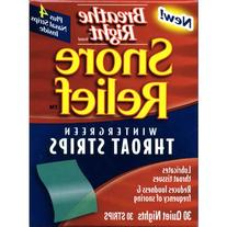 Breathe Right Snore Relief Throat Strips, Wintergreen, 30
