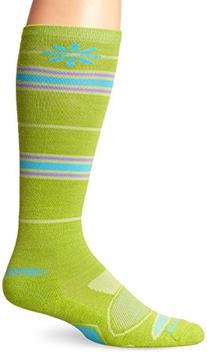 Wigwam Women's Snow Angel Merino Wool Ski Sock, Limon,