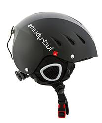 Lucky Bums Snow Sport Helmet, Matte Black, Medium