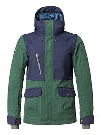 Roxy SNOW Junior's Tribe Insulated Snow Jacket, Jungle Green