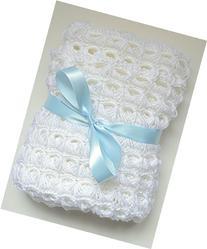 Snow White Hand Crocheted Stroller/Travel Blanket