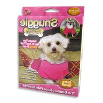 Snuggie for Dogs Pink Colored Fleece Blanket Coat with