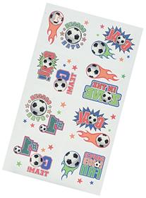 Amscan Soccer Goal Birthday Party Tattoo , Multi Color, 9.2