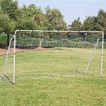 12' x 6' Soccer Goal With Net, Velcro Straps, Anchor Large