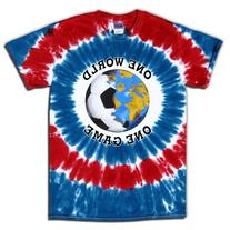 Soccer T-Shirt: USA World Cup Soccer One World Tie Dye-Adult