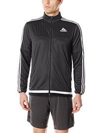 adidas Men's Soccer Tiro 15 Training Jacket, Black/White/