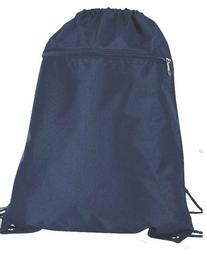 DALIX Sock Pack Drawstring Backpack Bag Sack in Navy Blue