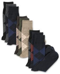 Polo Ralph Lauren Men's Socks, Extended Size Argyle Dress