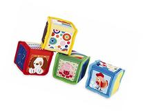 Earlyears Soft Baby Blocks - 4 Fabric Blocks with Pictures