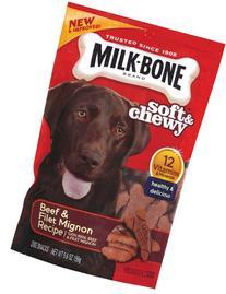 Milk-Bone Soft & Chewy Beef & Filet Mignon Recipe Dog Snacks