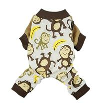 Fitwarm Soft Cotton Adorable Monkey Dog Pajamas Shirt Pet