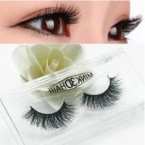 1 Pair Soft Natural Mink False Eyelashes Messy Eye Lashes