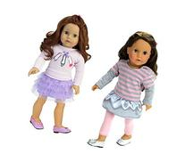 Sophia's 6 Pc Soft Pink and Lavender Doll Outfits Include 2