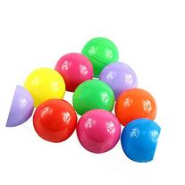 Buytra 100pcs Soft Plastic Ball Pit Balls Baby Kids Tent