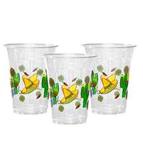 Party Essentials Soft Plastic Printed Party Cups, 12-Ounce,
