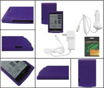 iShoppingdeals - Purple Soft Skin Case w/ Screen Protector
