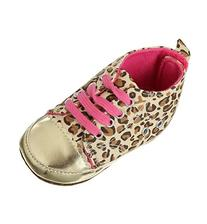 EOZY Soft Sole Unisex Baby Infant Toddler Gold Leopard Print