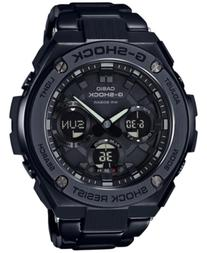 G-Shock Men's Solar Analog-Digital G-Steel Black Resin Strap