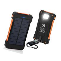 GRDE 10000mAh Solar Charger Dual USB Backup Battery Charger