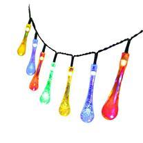 Solar Christmas String Lights,easyDecor 30 LED Water Drop