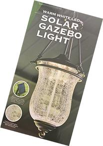 Solar Gazebo Light Extra Large with Crackle Glass & Chain