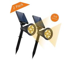 URPOWER Solar Lights 2-in-1 Solar Powered 4 LED Adjustable
