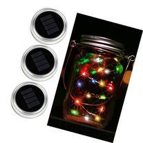 Solar Mason Jar Lid - Kohree 3 Pack Mason Jar Lights with 10