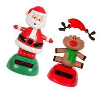Solar Powered Dancing Christmas Santa and Red Nosed Reindeer