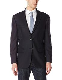 Nautica Men's Solid 2 Button Blazer, Navy, 38 Short