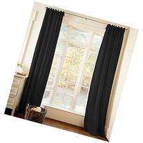 Carousel Designs Solid Black Drape Panel 64-Inch Length