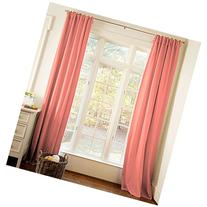 Carousel Designs Solid Coral Drape Panel 96-Inch Length