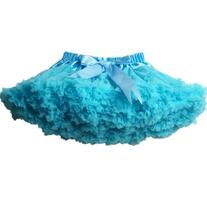 Buenos Ninos Girl's Solid Color Dance Tutu Pettiskirt Blue 3