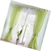 ZARABE Solid double Window Curtaincurtain pastoral