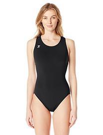 TYR Sport Women's Solid Durafast Maxback Swim Suit,Black,38