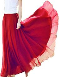 143Fashion Ladies Fashion Solid Color Maxi Dress, Coral,