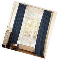 Carousel Designs Solid Navy Drape Panel 64-Inch Length