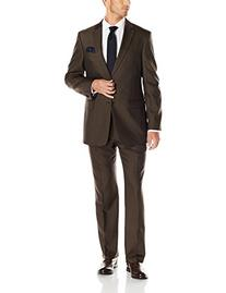 Tommy Hilfiger Men's Solid Suit, Olive, 40 Regular