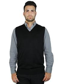 Blue Ocean Solid Color Sweater Vest-2X-Large