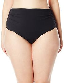 Anne Cole Women's Plus-Size Solid High Waist To Foldover