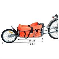 Aosom Solo Single-Wheel Bicycle Cargo Bike Trailer - Orange