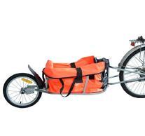 Aosom Solo Single-Wheel Bicycle Cargo Bike Trailer, Orange