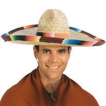 Rubie's Costume Sombrero with Rainbow Serape Edge And Band,