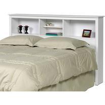 Prepac Sonoma Double/Queen Bookcase Headboard, White