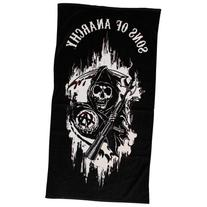 """Sons of Anarchy 59"""" x 29"""" 1/2 Cotton Beach Towel  by"""