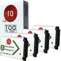 4x DOT-01 Brand Sony HDR-AS30 Batteries for Sony HDR-AS30