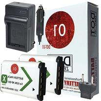 2x DOT-01 Brand Sony HDR-CX440 Batteries and Charger for
