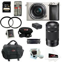 Sony Alpha a6000 Mirrorless Camera w/ 16-50mm & 55-210mm